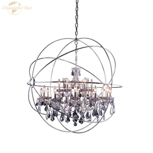Фото хрустальные люстры в скандинавском стиле современная сферическая