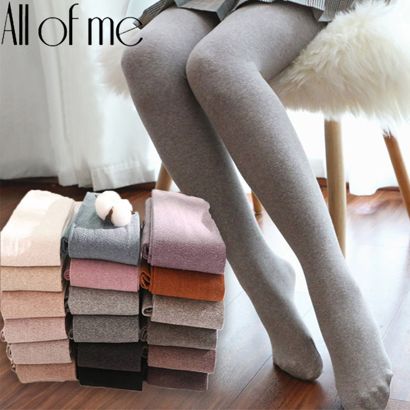 Thick Stockings Tights Warm Pantyhose Waist Female High-Elastic Solid-Color 16 Autumn