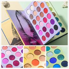 Beleza vitrificada 72/39 cor três-camada livro estilo compõem cosméticos destaque pearlescent fluorescente arco-íris disco sombra tslm1
