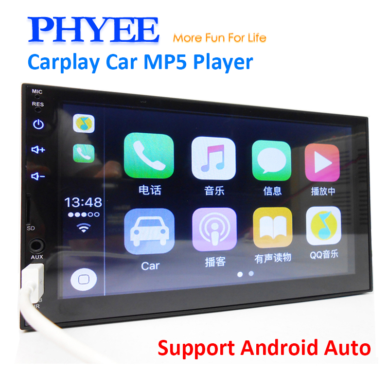 2 din apple carplay rádio do carro bluetooth android auto 7