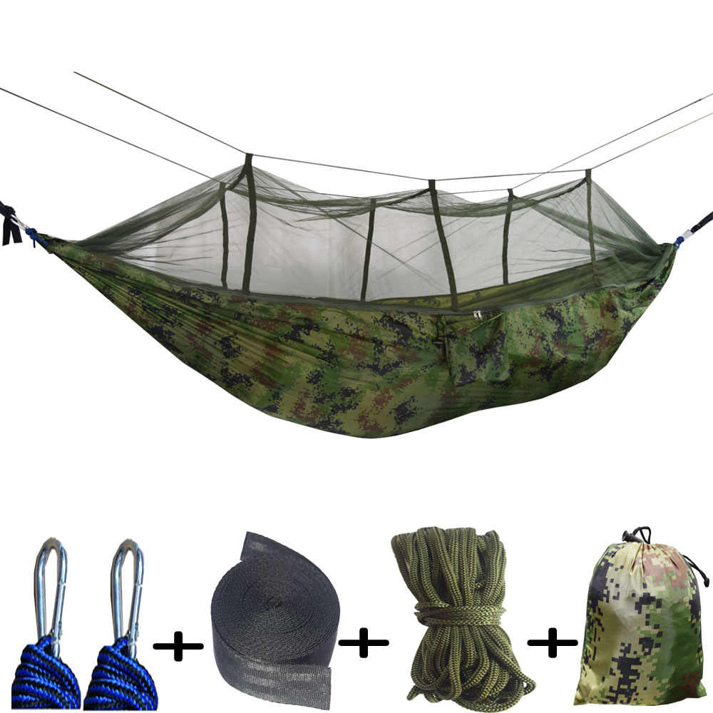 Double Parachute Mosquito Net Hammock Chair Tourism Flyknit