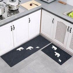 Ensemble de tapis de cuisine anti-dérapant Long paillasson d'entrée absorbant tapis de prière musulman tapis de bain tapis de couloir extérieur
