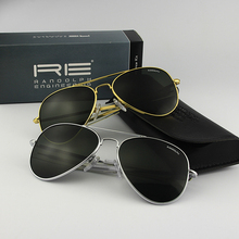 American Military Army Aviation Pilot RE61 Sunglasses RANDOLPH Glass lens Men Woman Brand with Box Top Quality 009