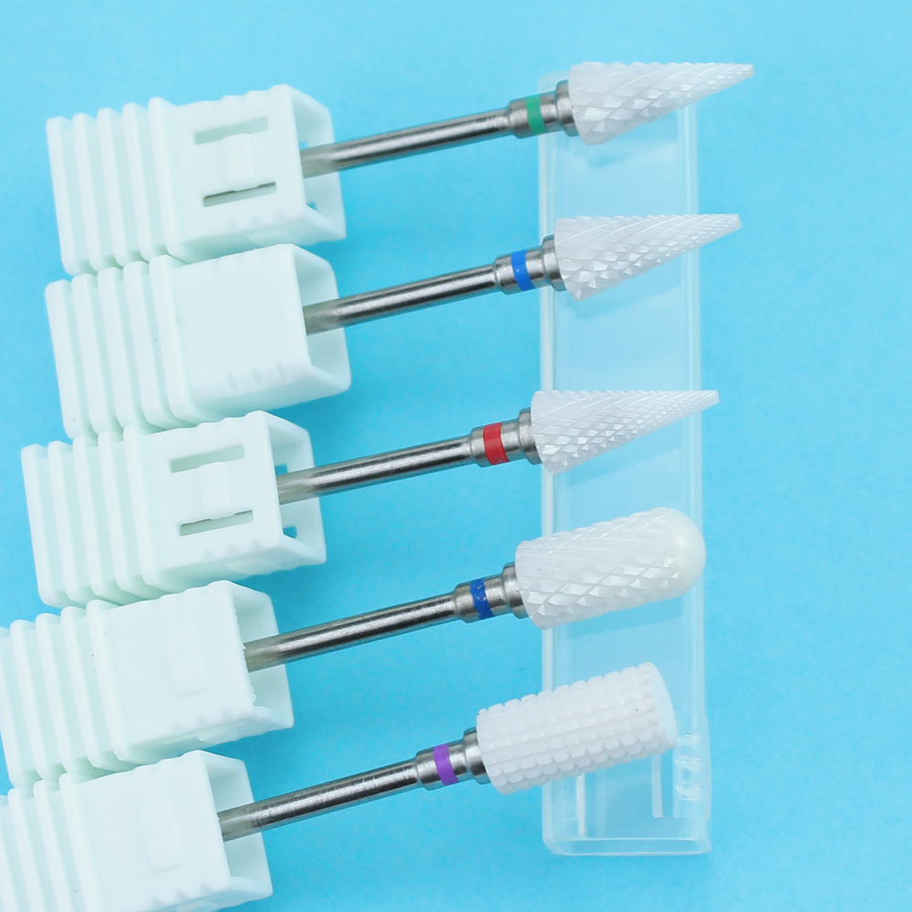 1pcs Ceramic Nail Drill Bit For Electric Manicure Drills Machine Milling Cutter Nail Files Buffers Nail Art Equipment Accessory 2