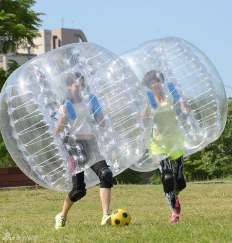 Divertimento all'aria aperta e sport 1.5m 0.8 millimetri Gonfiabile Del Respingente Football Corpo Zorbing Bolla Pallone Da Calcio Umani Bouncer giocattolo palle