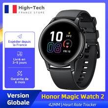Huawei – montre connectée Honor Magic Watch 2, 42MM, Version globale, prise en charge des appels, Bluetooth, suivi de la fréquence cardiaque et du taux d'oxygène dans le sang Spo2