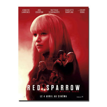 F170 Red Sparrow Movie Le Moineau Rouge Jennifer Lawrence Silk Cloth Poster Art Bedroom Decoration image