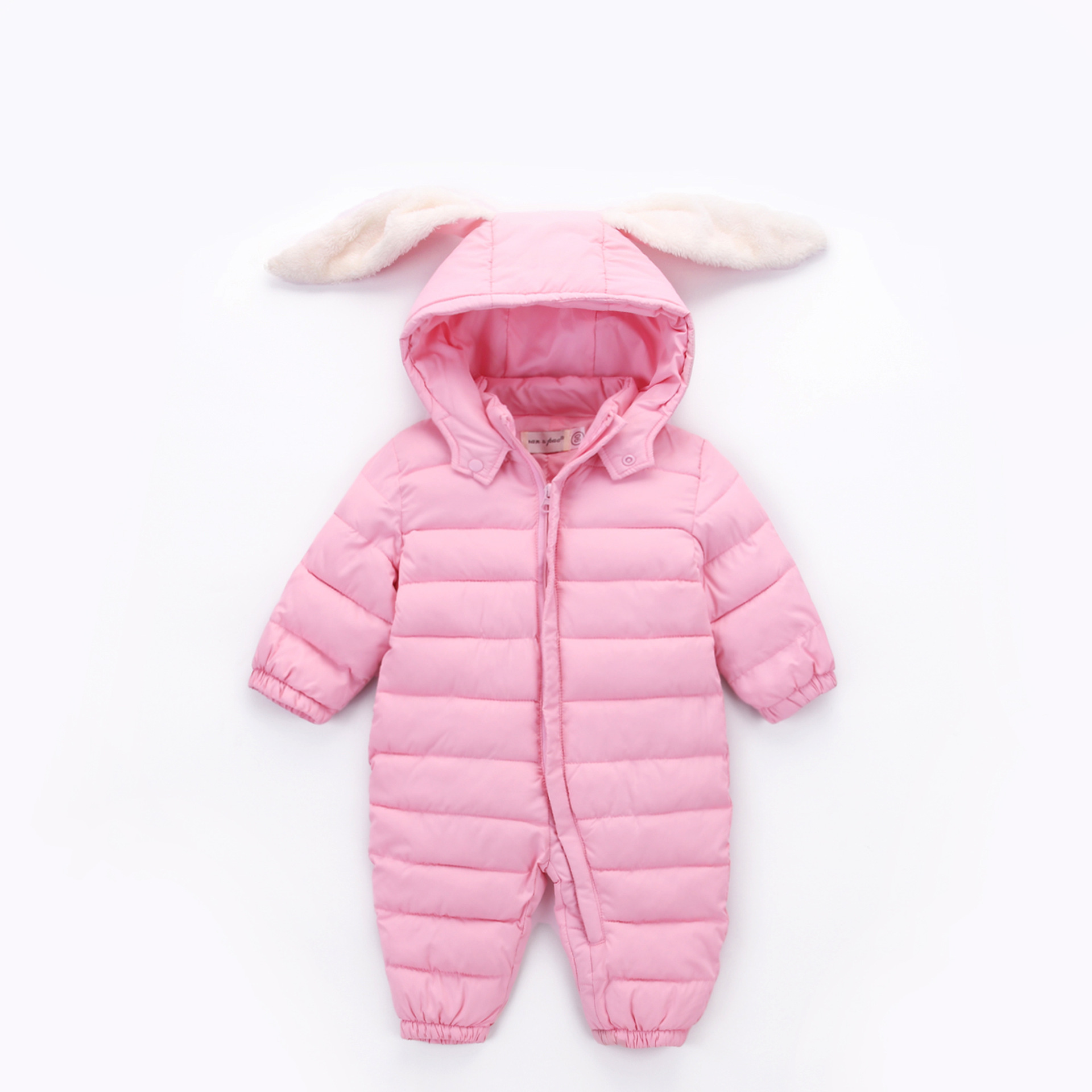 Bunny Rompers Baby Winter Infant New Year Baby Winter Cloth Coveralls Newborns Warm Romper Rabbit Winter Overalls For Newborns in Rompers from Mother Kids