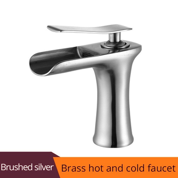Basin Faucet Black Waterfall Bathroom Faucets Hot Cold Water Basin Mixer Tap Chrome Brass Toilet Sink Water Taps Crane Gold 1401 11