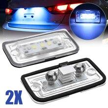 2pcs LED License Plate Light 6000K Super Bright Number Plate Lamp ForMercedes Benz C W203 CLK W209 SL R230 Car Lights недорого