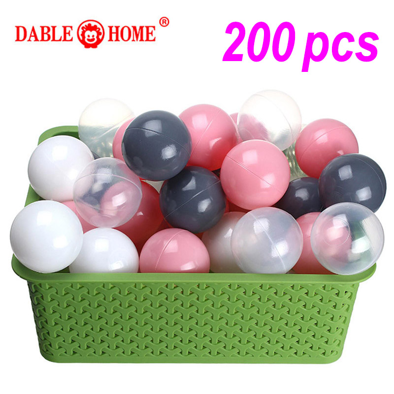 200 Pcs/bag Eco-Friendly Colorful Ball Soft Plastic Ocean Ball Funny Baby Kid Swim Pit Toy Water Pool Ocean Wave Ball Dia 5.5cm