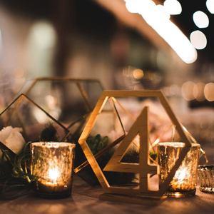 Image 4 - 1 20 מספרי עץ סימני חתונה משושה שולחן מספר עץ שולחן מספרים כפרי חתונה אירוסין מושב מספרי סימן