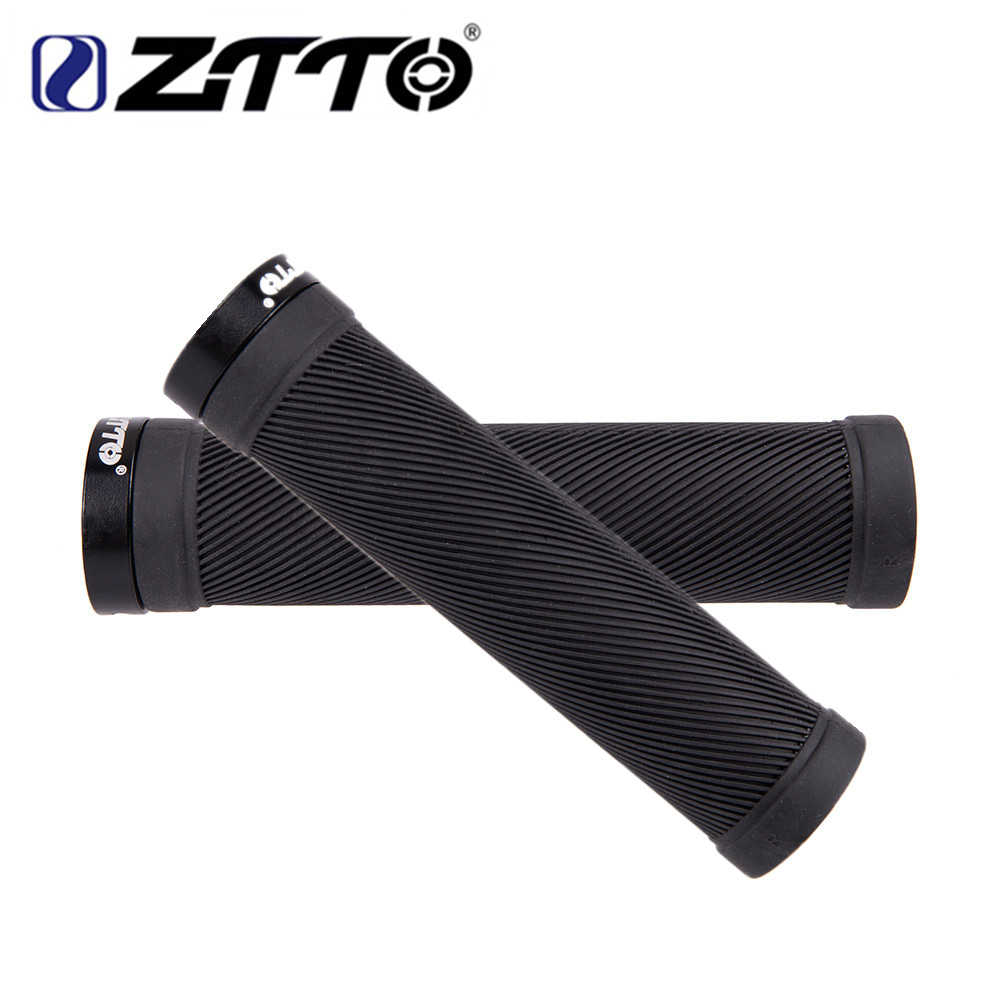 Soft Rubber Bicycle Lock-on Handlebar Grip Anti Slip Shockproof 1pc