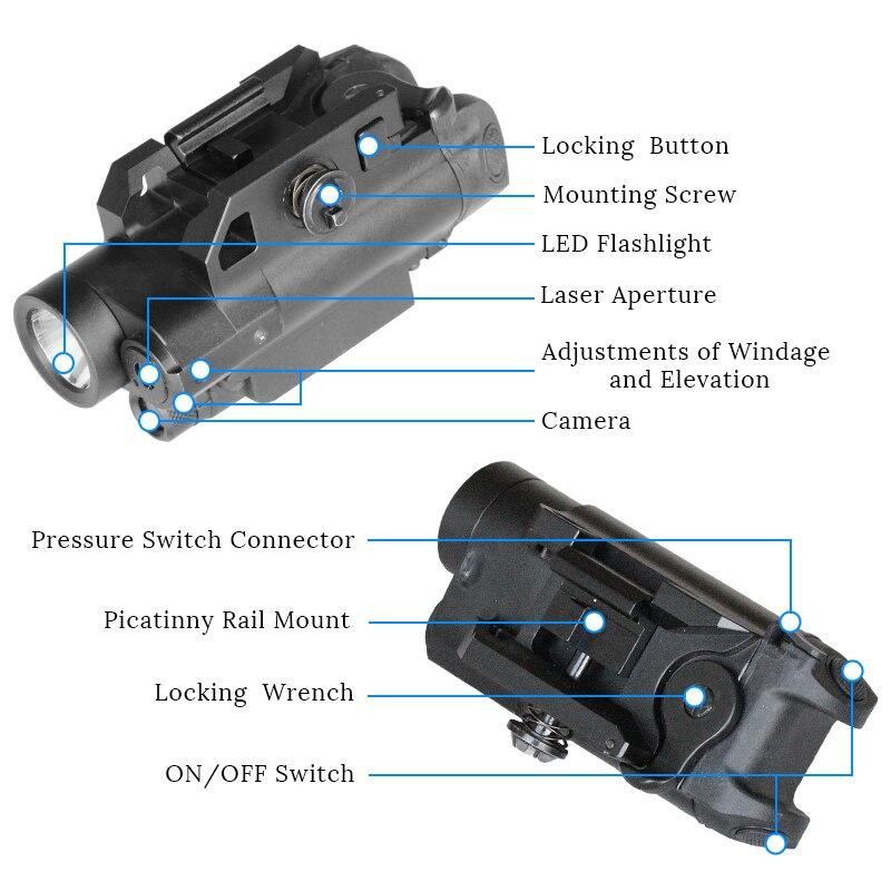 picatinny arma laser com led tatico luz 04