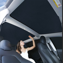 Pára-brisa do carro toldos de vidro telhado sun sombra dobrável pára-sol sombra blocos sun viseira para tesla modelo 3 2017-2020 acessórios