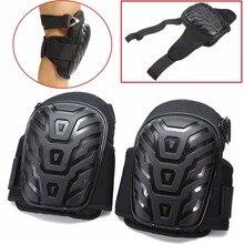 Наколенники для ног мотоцикла Adjus с ремнями, безопасная Гелевая подушка EVA, ПВХ оболочка для защиты колена, наколенники для работы