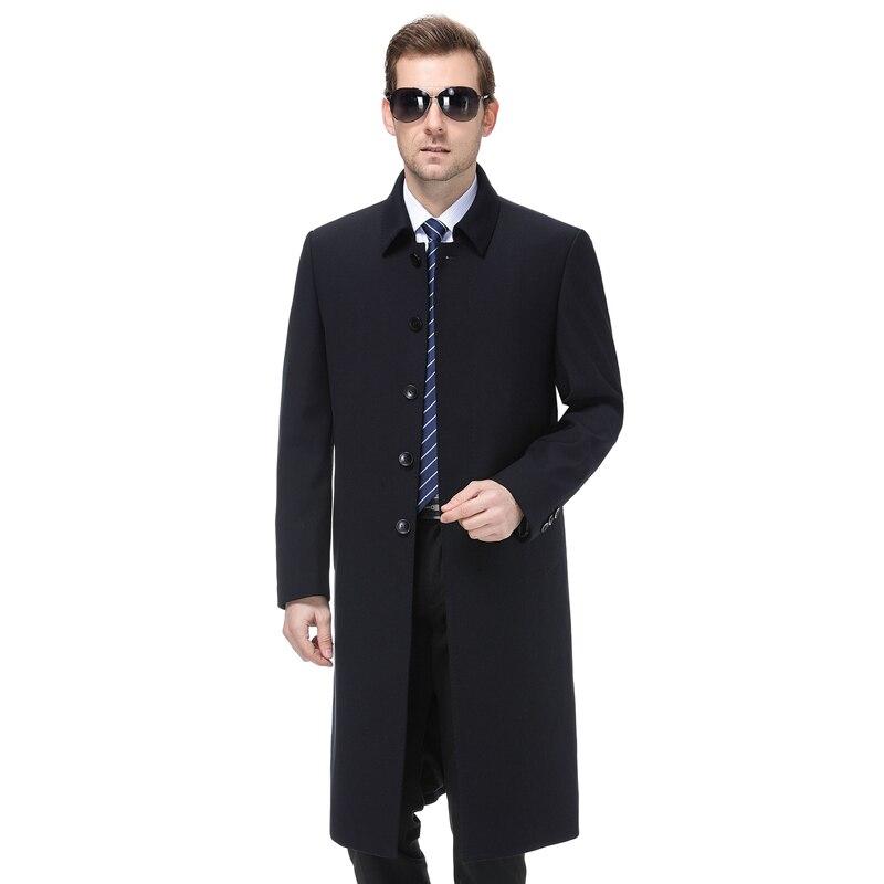 Grande taille 5xl 2019 hommes veste manteau longue Section mode Trench manteau hommes coupe vent marque décontracté Fit pardessus veste d'extérieur - 2