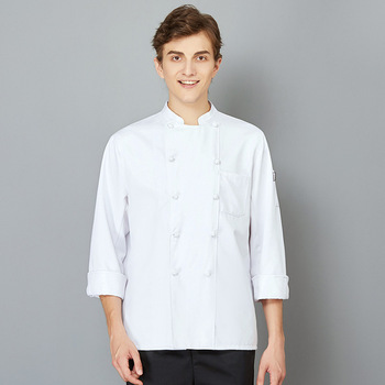 The Chef Uniform Long Sleeve Qiu Dong Outfit Hotel Catering Kitchen Chef Uniform Bakery Equipment After Men And Women  4