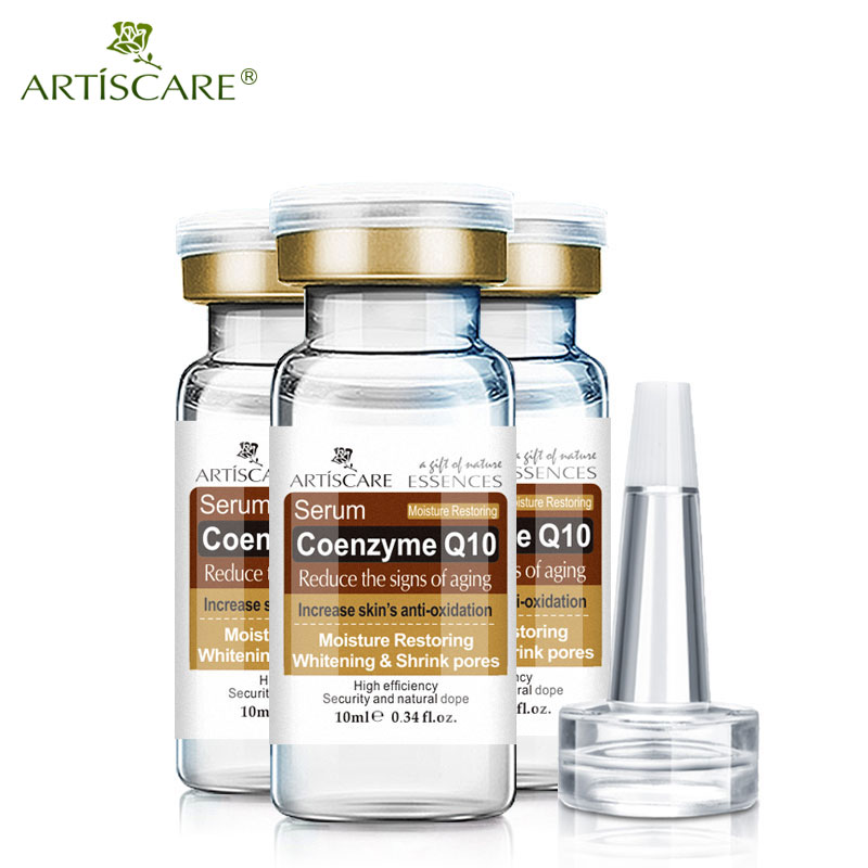 ARTISCARE Coenzyme Q10 Serum Anti Aging Whitening And Minimize Pores Essence Tighten And Flabby Skin Best Skin Care Cream 3Pcs
