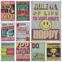 Get more info on the 30X20cm Family Life Tin Sign Plate Metal Signs Art Poster Cafe Bar Pub Vintage Painting Wall Decor Plaque Results Or Excuses H80