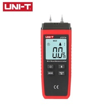 UNI-T UT377A Mini Digital Moisture Meter 2-40% Wood Materials Humidity Tester Timber Damp Detector  2 Pins LCD Backlight стоимость