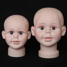 Little Kid Boy Mannequin Head PVC Children Hat Display Mold Headwear Cap Holder