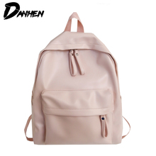 Simple Design Backpack for School Style Leather Bag For College Women Casual Daypacks mochila Female Girl Travel Bags 2018 amarte new fashion preppy style leather school backpack bag for college simple design men casual daypacks mochila male