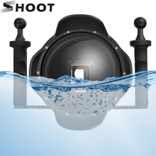 SHOOT 6 Stabilizer ถาด Dome Port สำหรับ Case GoPro HERO 7 6 5 สีดำดำน้ำ Dome สำหรับ goPro 7 6 อุปกรณ์เสริม