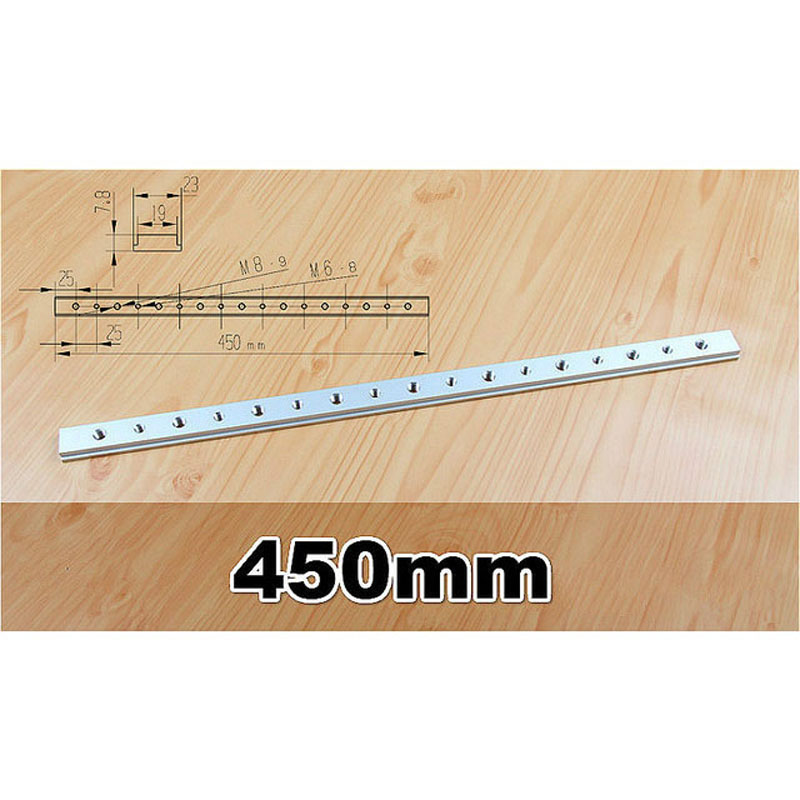 450mm T-track T-slot Miter Track Jig Fixture Woodworking Tool For Router Table