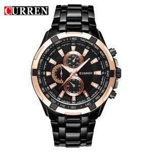 Image 2 - Erkek Kol Saati Curren Brand  Quartz Watch men Business watches waterproof Relogio Masculino Casual wristwatch Zegarek Meski