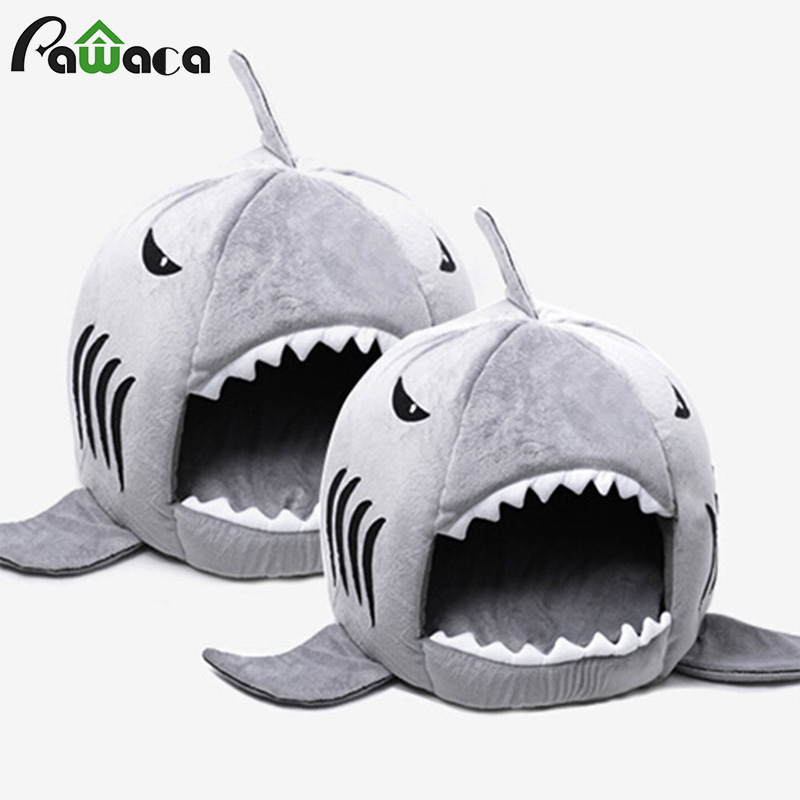 Tubarão Tubarão Casa Lavável Cama do animal de Estimação da Casa de cão Cama Do Cão Gato Camas & Esteiras Casa Dormir Sofá Cama Almofada Removível s/M Para Cão Gato