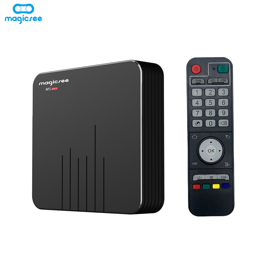 Magicsee N5 MAX Android 9.0 TV Box 4GB RAM 128GB ROM Amlogic S905X3 Quad core Media Player 2.4G 5G WiFi H.265 4K Smart TV Box(China)