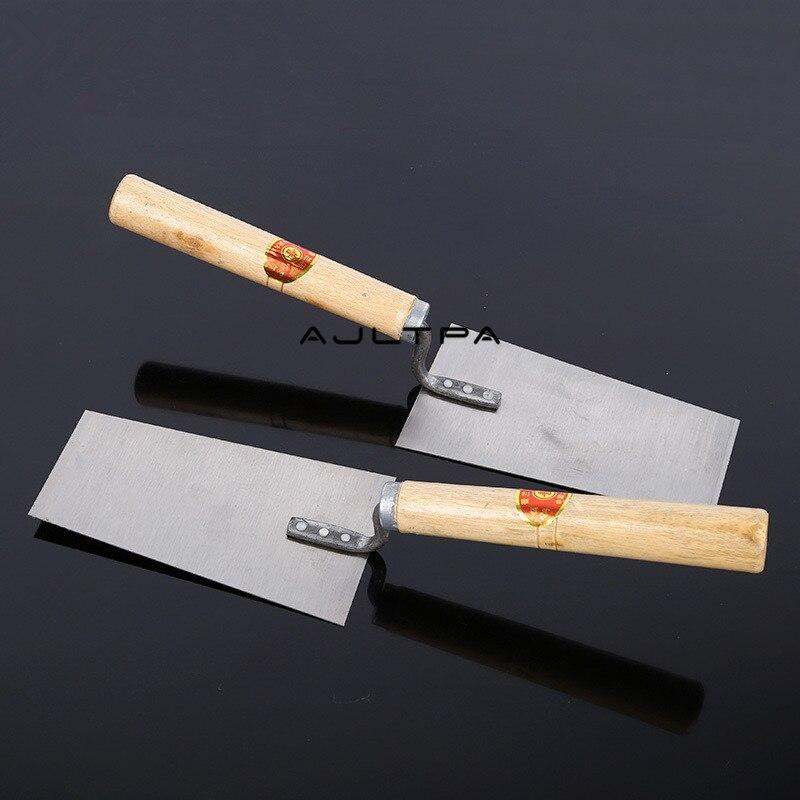 20Pcs Plaster Trowel Wood Handle Steell Blade Construction Concrete Spatula Tool H4876