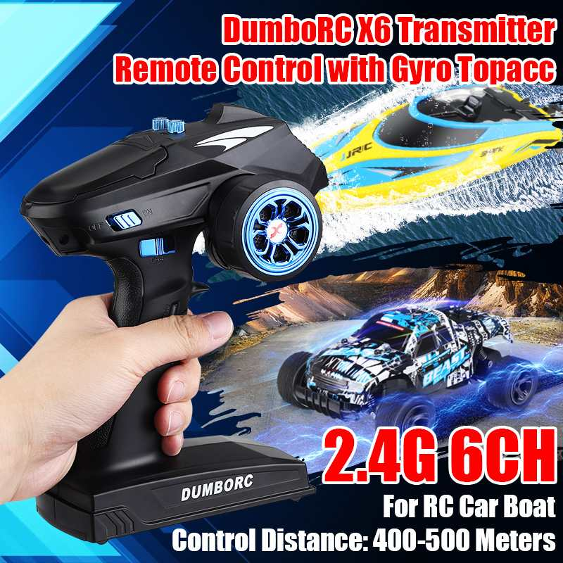 RC Transmitter DumboRC X6 2.4G 6CH with X6FG Receiver for <font><b>JJRC</b></font> <font><b>Q65</b></font> MN-90 Rc Control Car Boat Tank RC Vehicle Model Toy <font><b>Parts</b></font> image