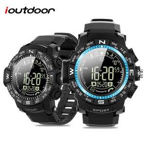 Новый ioutdoor P10 спортивные умные часы IP68 50 м Водонепроницаемый мониторинга погоды Большие размеры 33 месяца в режиме ожидания шагомер сигнализ...