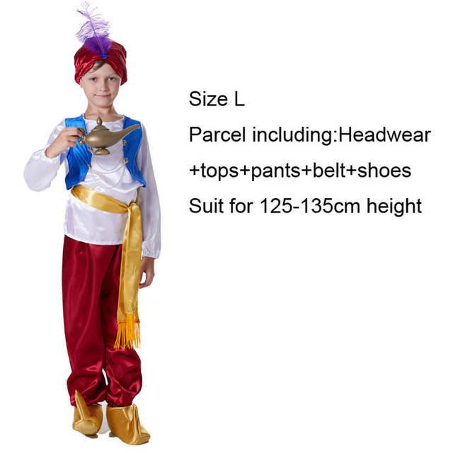 Magic Aladdin and The Magic Lamp Arabia Prince Clothing Kids Cosplay Costume