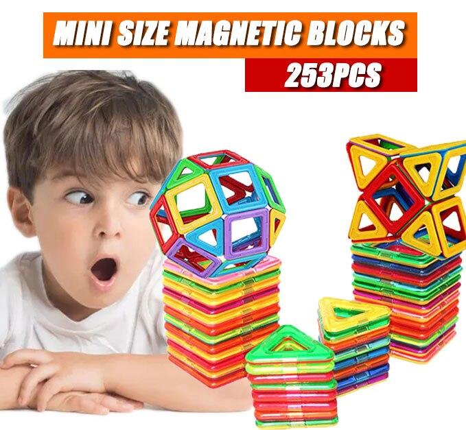 41 Uds. Mini juego de construcción magnética de diseño ABS bloques de construcción magnéticos de plástico juguetes educativos para niños