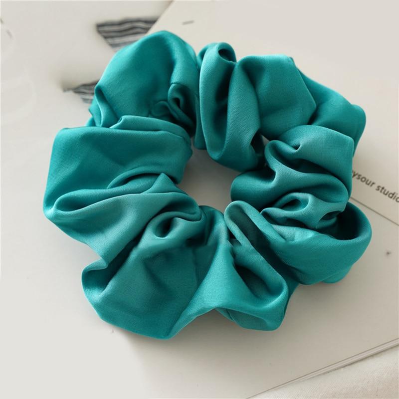 Новое поступление модные женские красивые атласные резинки для волос яркого цвета резинки для волос для девушек аксессуары для волос конский хвост держатель - Цвет: q6