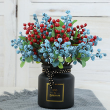5Pcs/lot Artificial Fruits Berry Blueberry Artificial Plant Red Beans Wedding Christmas Decoration Home Hotel Bedroom Cafe Decor