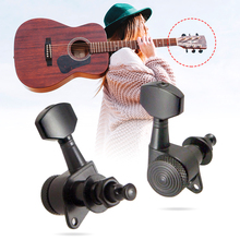 Tooyful 6R String Tuning Pegs Locking Tuners Keys Machine Heads for Acoustic Guitars 1 set silver zinc alloy tuning pegs keys machine heads for acoustic guitar with lock knob