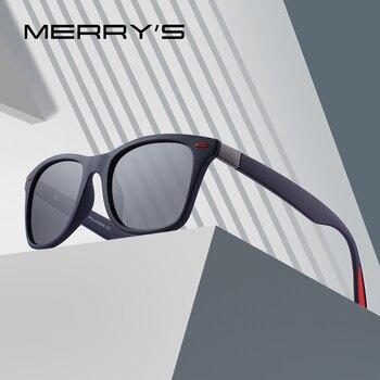 MERRYS DESIGN Men Women Classic Retro Rivet Polarized Sunglasses Lighter Design Square Frame 100% UV Protection S8508 Apparels Sunglasses