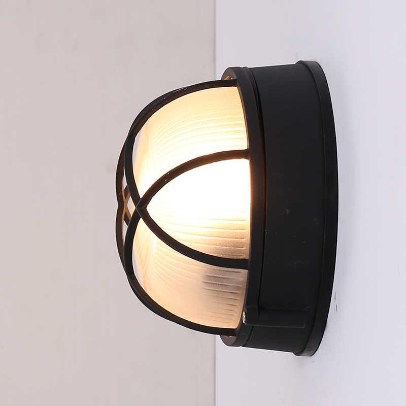 E27 حامل في الهواء الطلق الجدار ضوء مقاوم للماء IP54 الرجعية الألومنيوم LED مصابيح جدارية للأماكن الخارجية الشمعدان الإضاءة ل الممر خارج ضوء