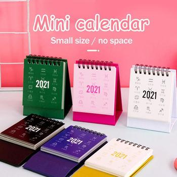 2021 New Year Mini Desk Calendar DIY Portable Desk Calendars Daily Schedule Planner  Twelve Constellation Cute Table Calendar