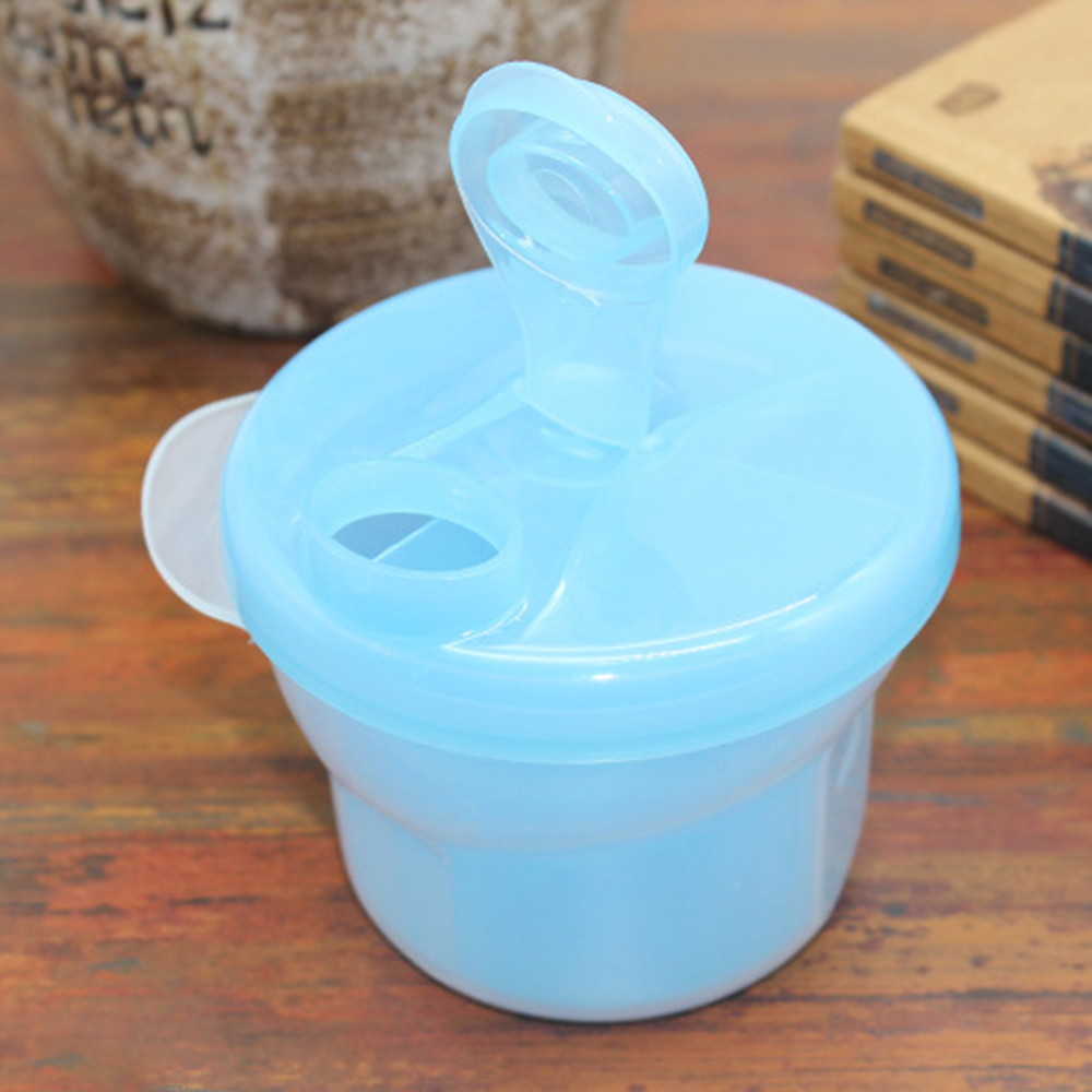 3 Grid Milk Powder Storage Box Portable Rotating Baby Formula Milk Storage Feeding Box Kids Food PP Container Storage