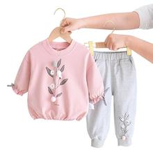 2Pcs Baby Girls Clothing Sets Autumn Winter Toddler Girls Clothes Kids Tracksuit For Girl Suit Children Clothing 1 to 6 Year cheap TANGDUOLA 0-6m 7-12m 13-24m 25-36m 4-6y Fashion CN(Origin) Four Seasons O-Neck Pullover W-T257 Polyester Full Regular Fits true to size take your normal size
