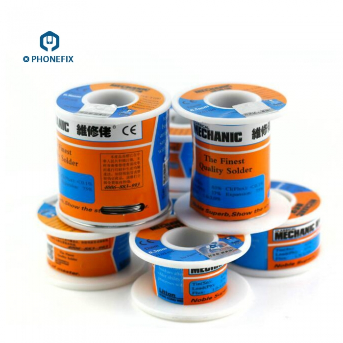 Mechanic High Purity Tin Solder Wire For Cell Phone Motherboard Repair Solder Tin Wire Lead Solder Melt Rosin Core Welding Tool