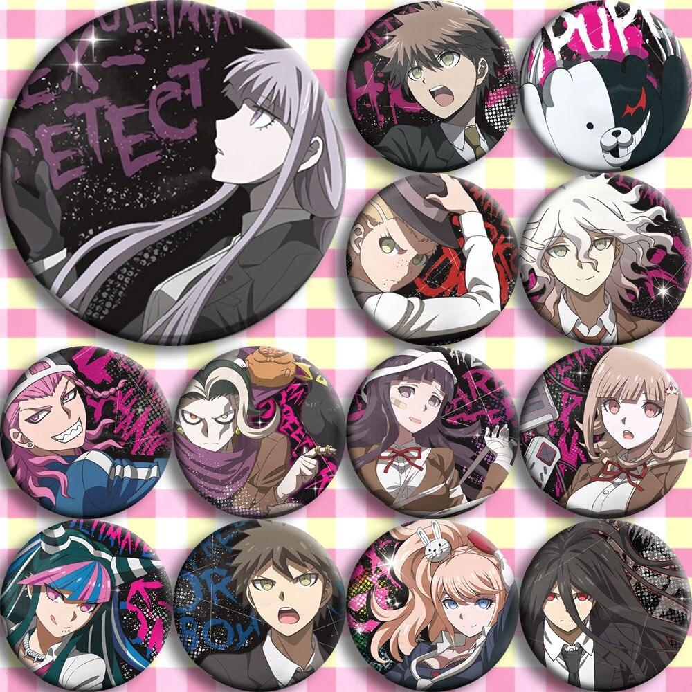 Japan Anime DANGANRONPA Cosplay Badge Cartoon Collection Backpacks Badges Bags Button Brooch Pins Gift