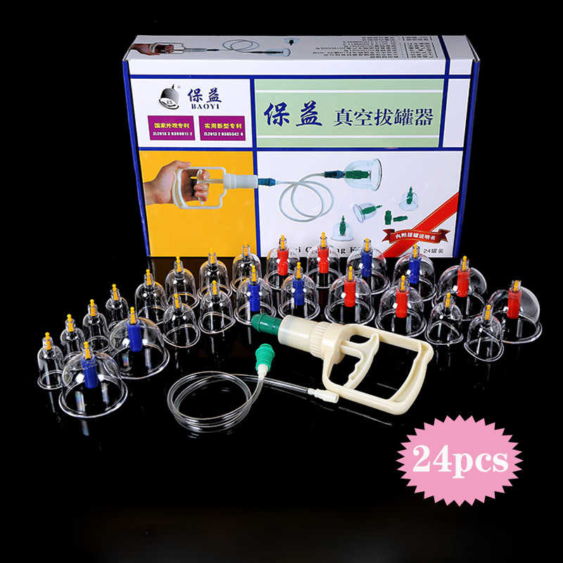 24 können Vakuum Schröpfen Set Gerät Saug Tassen Medizinische Massage Dosen Magnetische Körper Behandlung ventosas masaje schröpfen Massage