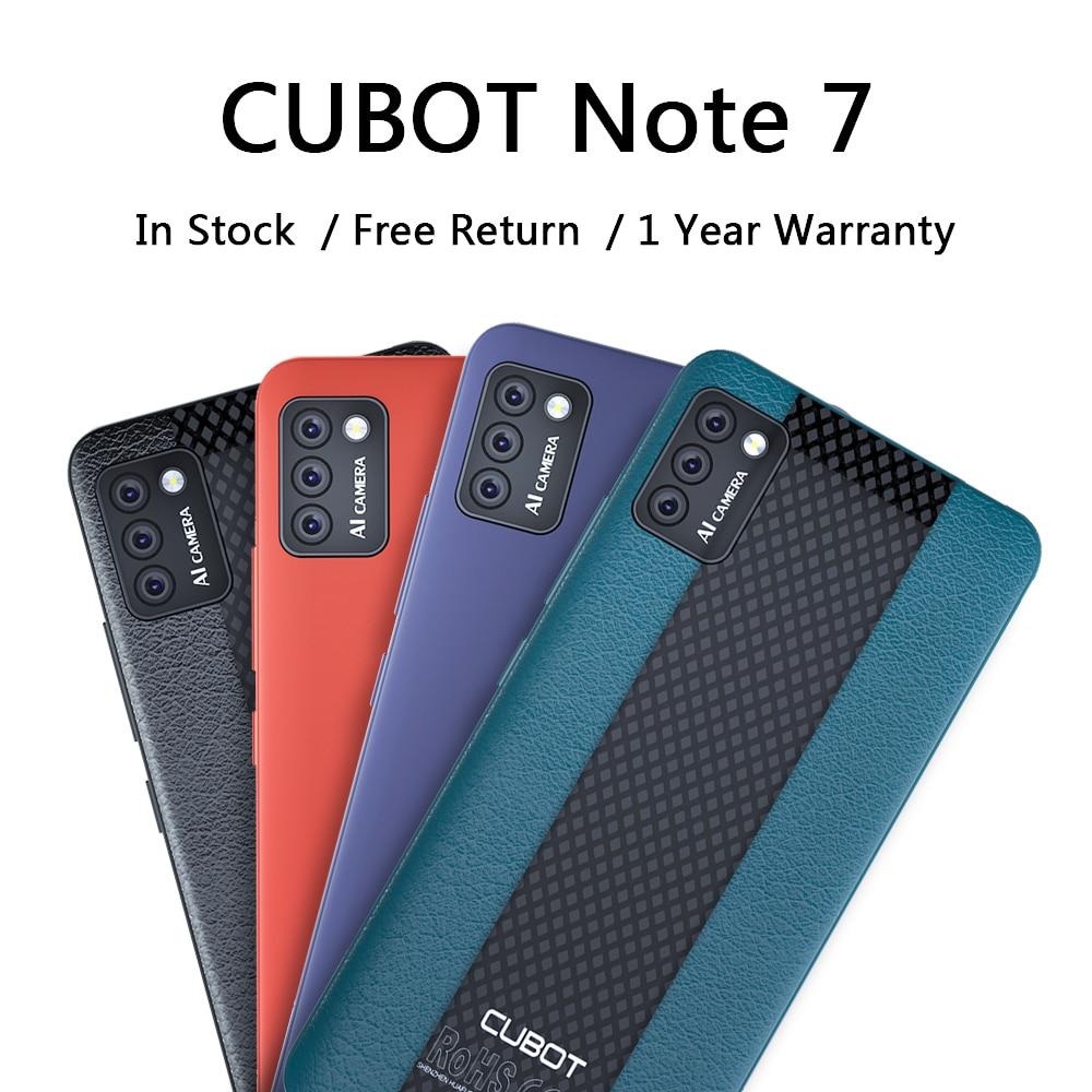 "CUBOT-móvil Note 7 con Triple cámara trasera, 3100mAh, Android 10, 5,5"""
