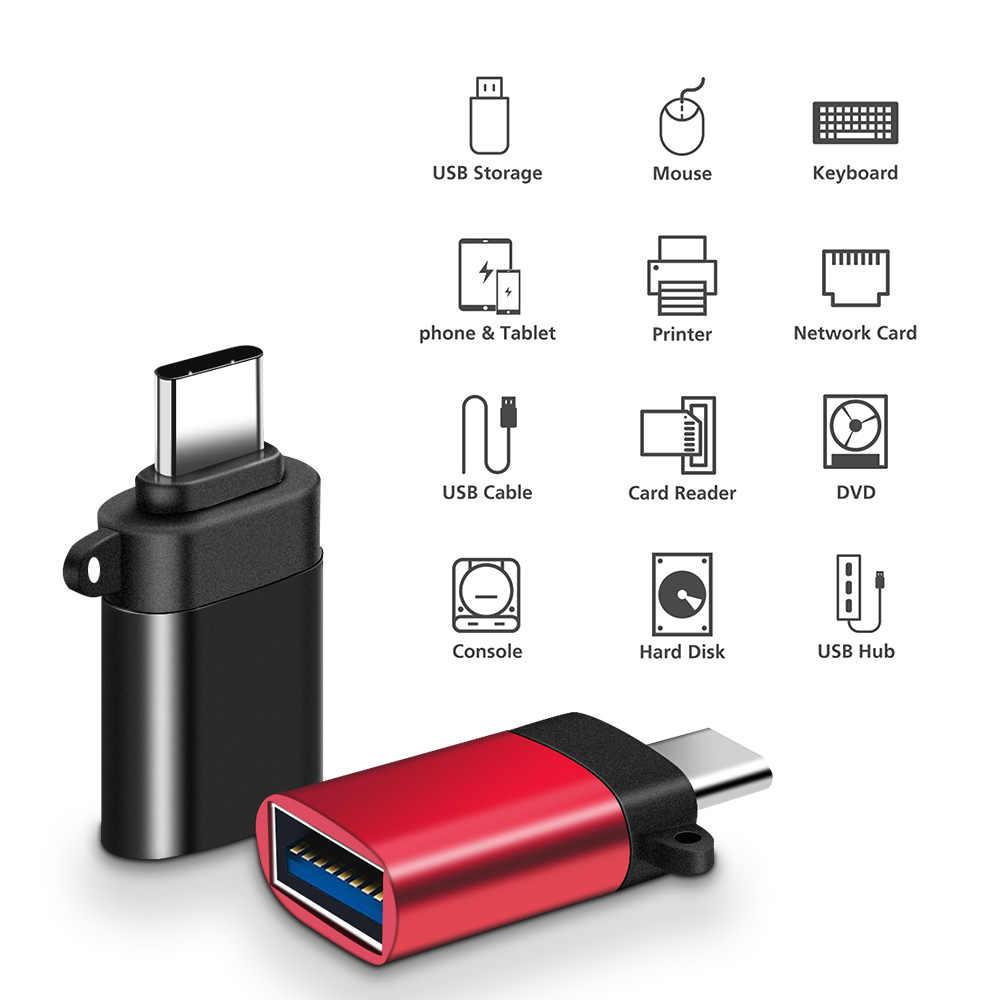 3 個の USB タイプ C OTG アダプタアップル Ipad プロ 11 12.9 2018 iPadpro 2019 マイクロソフト表面プロ 6 7 タブレット OTG ケーブル USBC